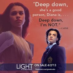 Diana and Caine. Caine deep down you can be a good person Book Memes, Book Quotes, Gone Michael Grant, Gone Book, Gone Series, Go For It Quotes, Deep Down, You Are My Favorite, Book Fandoms