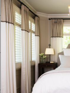 Curtains with contrasting header Curtains With Blinds, Valances, Family Room Addition, Master Room, Room Additions, Custom Window Treatments, Stores, Home Accents, Yurts
