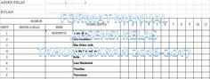 Contoh Format Manual Absensi Kelas Tahun Ajaran 2016-2017 untuk Semua Jenjang Sekolah dengan Microsoft Excel