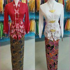 "KEBAYA NYONYA SS-10XL   1Y-12Y on Instagram  ""Kebaya nyonya set dengan kain  batik selisih ready stock. Pink available size am. Putih available size L.  Harga ... eecd73ee86"