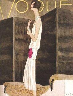 Мода 1928 года на обложках и иллюстрациях из зарубежных журналов.