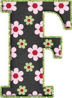 .Alfabeto de florecitas rosas ...De  Eduarda Cavalcanti ...F