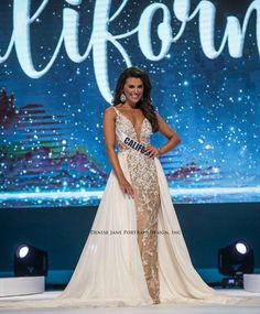 Best Evening Gowns in Pageantry: 2019 Edition - Pageant Planet Teen Pageant, Pageant Hair, Dressy Dresses, Nice Dresses, Prom Dresses, Wedding Dresses, White Evening Gowns, White Gowns, Beauty Pageant Dresses