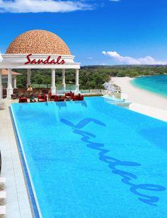 Sandals Royal Barbados Roof Top Infinity Pool - Barbados - Caribbean Travel