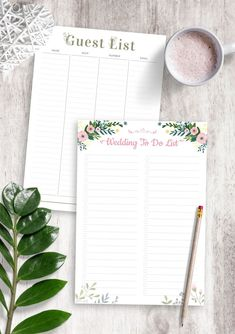 To Do List Wedding template can help you focus and stay on top of things or that can help you keep track of your activities and manage time effectively. Enjoy the simplicity and achieve more with the planners every single day. All planners are available in four sizes: A4; A5; US Letter Size; Half Letter Size. #wedding #to-do #lists #list #planner Diy Wedding Planner, Wedding Planning Checklist, To Do Lists Printable, Printables, To Do Planner, Wedding To Do List, List Template, Wedding Templates, Guest List