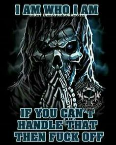 I love my demons because I am the only one who make them feel good Skull Pictures, Cool Pictures, Reaper Quotes, Grim Reaper Art, Biker Quotes, Skull Artwork, Skull Wallpaper, Warrior Quotes, Baddies