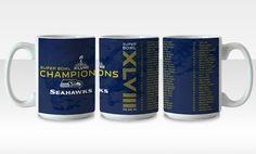 Seahawks Superbowl Items coffee mugs