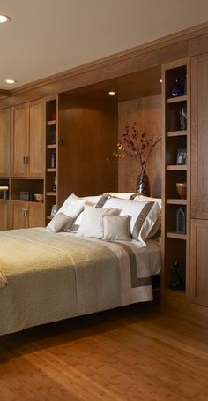 Great idea for additional storage space in a guest bedroom