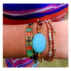 Aztec Cross Pattern Bracelet