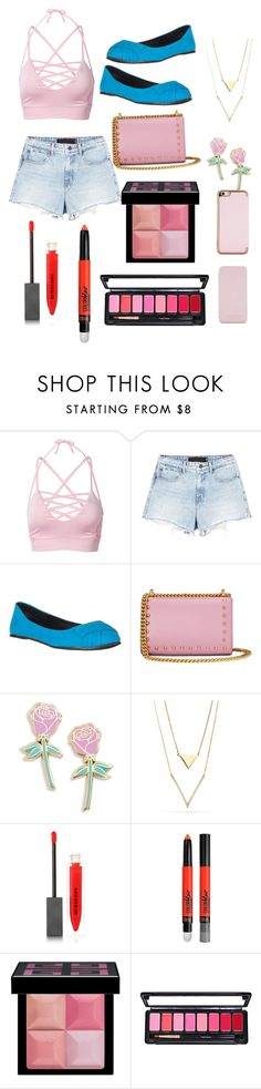 """""""Blue, pink and gold"""" by ms-kitty-cat on Polyvore featuring Alexander Wang, Gucci, Big Bud Press, Burberry, Maybelline, Givenchy and Ted Baker"""