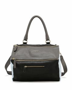 Pandora Medium Colorblock Satchel Bag, Gray by Givenchy at Bergdorf Goodman.
