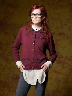 100% Cashmere Shirt Collar Border Jacket-Cashmere 1873.COM