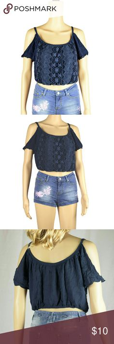 Hollister top. Dark blue sleeveless hanging blouse.Used but OK condition.Shorts are also available see my other listings. Hollister Tops Blouses