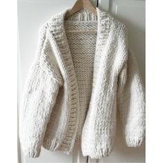 Simonde Cardigan in Natural Wool | We Are Knitters