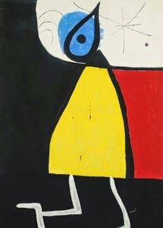 Joan Miró – Mulher na Noite – 1973