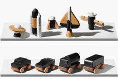 Kinder Spielzeug aus Holz - Autos mit Magneten