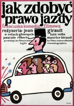 Le Permis de conduite Jak zdobyc prawo jazdy Flisak Jerzy Polish Poster