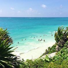 Discover Tulum, Mexico • See why the beautiful beaches, delectable eats, and charming city of #tulum is jumping to the top of everyone's #bucketlist • New post on our website • #mexico #traveldeeper #beachlife