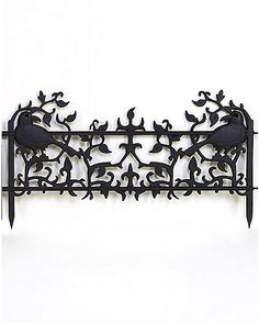 Would make a great gate topper!  Raven Edger Fence - Spirithalloween.com