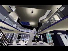 Sims 3 Luxury Modern Glass Mansion Walkthrough. - YouTube