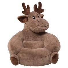 Kids Plush Moose Character Chair - Brown - Trend Lab