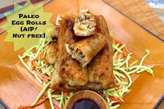TRIED & TRUE ... Paleo Egg Rolls ... First, these take a LOT of work for 6 thick egg rolls but that first bite was SO good. Unfortunately I may have reacted to something so I need to check again in the future. Note: try to make the wrap even thinner; cut the yucca into smaller pieces before boiling.