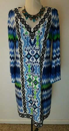 Maggy London Gorgeous Spring Multi Color Bell Sleeve Sheath Dress Women's SZ 10 Laying Flat Bust armpit to armpit Lentgh Maggy London Dresses, Cute Clothes For Women, Ladies Of London, London Blue, Wonderful Things, Sheath Dress, Fit And Flare, Bell Sleeves, Cute Outfits