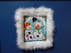 fuoriporta snowman punto croce (2014)
