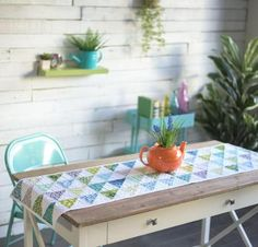 "Sew a gorgeous addition to your decor with the Free Spirit Custom Table Runner Kit! You'll receive an easy-to-piece Amy Gibson pattern and delightful True Colors fabric to create this 16"" x 56"" run..."
