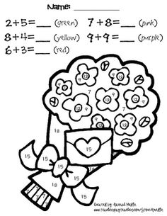 These pages have 4-7 addition problems in the touch math format.  There are a total of 20 pages each with a large picture to color by number!