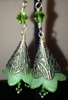 Earrings Handmade Beaded Jewelry Swavorski by JewelrywithPassion, $17.00