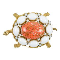 Turtle Brooch | From a unique collection of vintage brooches at http://www.1stdibs.com/jewelry/brooches/brooches/