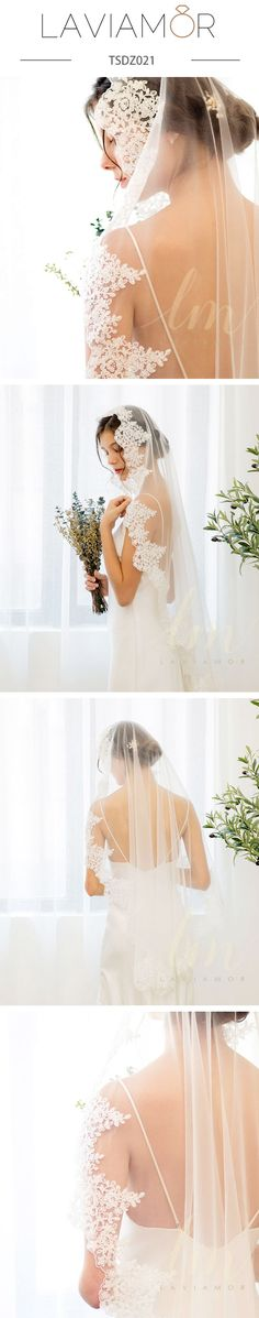 This is a handcrafted drop cut veil in illusion tulle with a corded french lace and beadeds edge finish. The veil can be worn over the face or flipped back to make it appear two layers. Wedding Dress With Veil, Wedding Hairstyles With Veil, Wedding Veils, Bridal Veils, Wedding Dresses, Wedding Bride, Diy Wedding, Chapel Length Veil, Ivory Veil