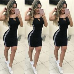 Grab yourself this bodycon dress before it goes out of stock. Dress Outfits, Casual Dresses, Short Dresses, Girl Outfits, Casual Outfits, Fashion Dresses, Cute Outfits, Fashion Mode, Womens Fashion