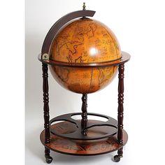 Globe Wine & Liquor Cabinet With Stand