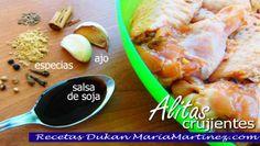 Alitas de Pollo dieta Dukan, fase Ataque Receta