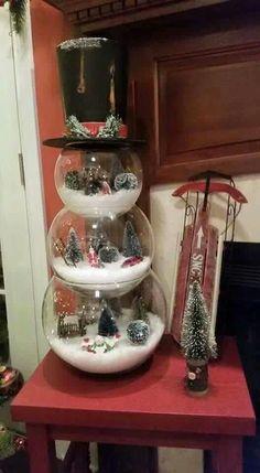 Bowl snowman display