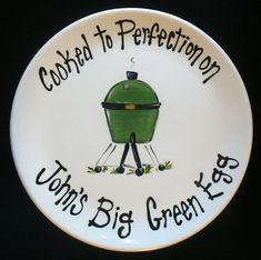 EXTRA LARGE 15 Personalized BBQ Plate   Hand by cutiepatooties1
