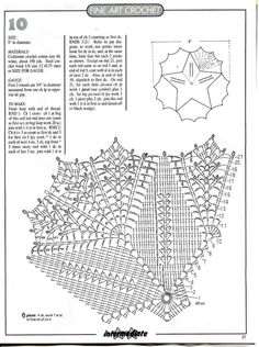Magic Crochet nº 152 - leila tkd - Picasa Web Albums Crochet Doily Diagram, Crochet Doily Patterns, Crochet Chart, Thread Crochet, Filet Crochet, Crochet Motif, Diy Crochet, Crochet Dollies, Crochet Magazine