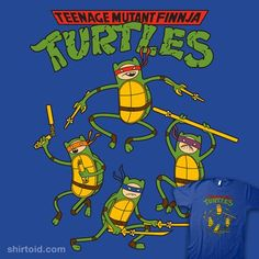 Teenage Mutant FINNja Turtles #adventuretime