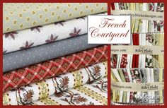 Great new fabric at the Missouri Star Quilt Company! French Courtyard by Sue Daley Designs for Riley Blake