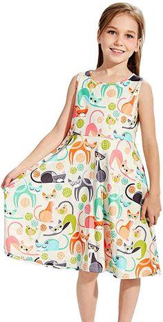Viscose Christmas Gift Pattern Yellow Kids Play Midi Dress Girls Cotton Children Clothing Comfortable Navy Fun Handmade