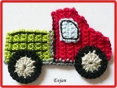 Häkelapplikationen - ♥ Lastwagen LKW ♥ - ein Designerstück von Evjans bei…