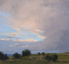 Jeffrey Reed Lancaster Evening Sky, Oil on canvas, 10 x 11 inches