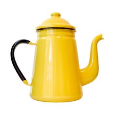 Enamel Coffee Pot in Yellow » Awesome color!