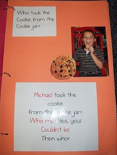 Who Took the Cookies From the Cookie Jar - Class book for beginning of year.