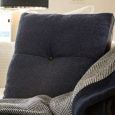 PENNINGTON--a square bolster of cotton + leather.  Made in USA! Add some intrigue to your home!