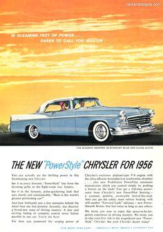 1956 Chrysler Windsor Newport - 18 GLEAMING FEET OF POWER - Original Ad