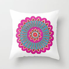 'Karma' Throw Pillow by PeriwinklePeacoat