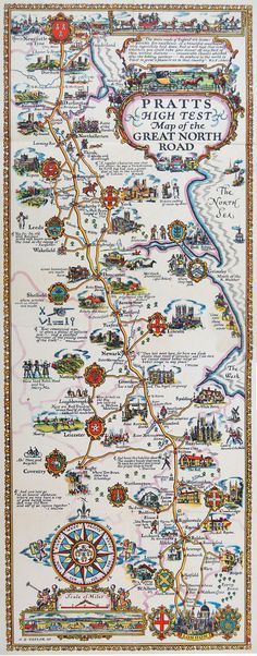 Africa vintage map north